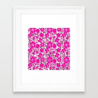 flower pattern Framed Art Prints featuring Flower Pattern  by Sammycrafts
