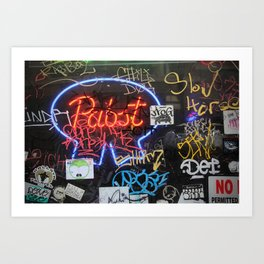 Decrepit Pabst Art Print