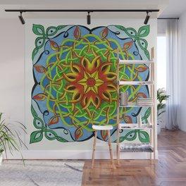 Fire Renewal Mandala Celtic Knot Mandala Art Wall Mural