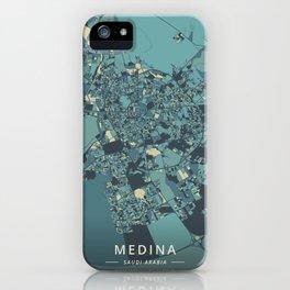 Medina, Saudi Arabia - Cream Blue iPhone Case