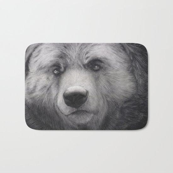 Bear Charcoal Bath Mat