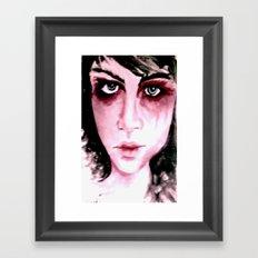 Blue Grey Eyes Framed Art Print