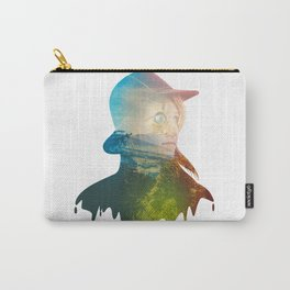 Mysterious Lady on Woods Carry-All Pouch