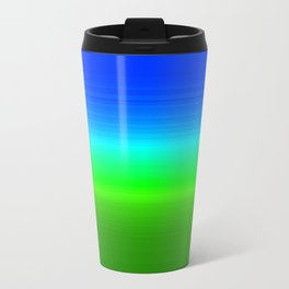 Blue Sky Green Grass Deconstructed (blue to green ombre gradient) Travel Mug