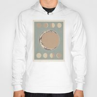 moon phases Hoodies featuring Phases of the Moon by Marilyn Foehrenbach Illustration