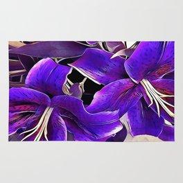 Purple lilies Rug