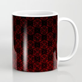 D20 Necromancer Crit Pattern Premium Coffee Mug