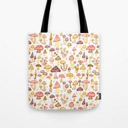Myriad of Mushrooms - white Tote Bag