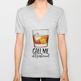 Alcohol Gift,Old Fashioned,Fashionista Party Decoration,Man cave,Gift For Husband,Call Me Old Unisex V-Neck