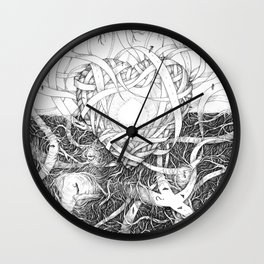 Heartway knot Wall Clock