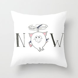 Pigs can fly Throw Pillow