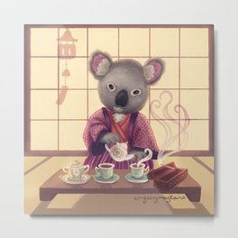 Eucalyptus Tea Ceremony Metal Print