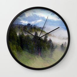Morning Fog #2 Wall Clock