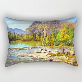 Lake O'Hara Holiday by Amanda Martinson Rectangular Pillow