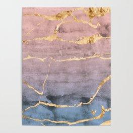 Watercolor Gradient Gold Foil Poster