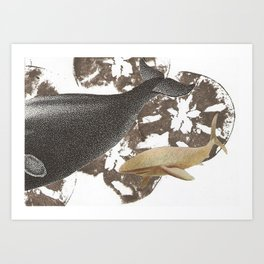 whale away Art Print
