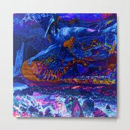 Mikhail Vrubel Blue Fallen Demon Metal Print