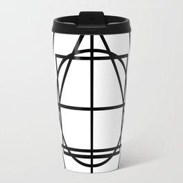 Black lines minimalism Travel Mug