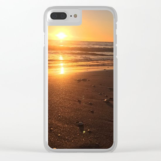 Treasure Island Sunset Clear iPhone Case