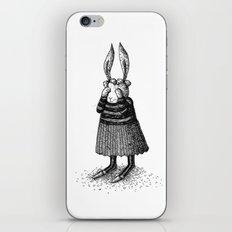 Rabbit - Girl iPhone & iPod Skin