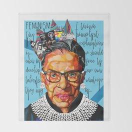 Ruth Ginsburg Throw Blanket