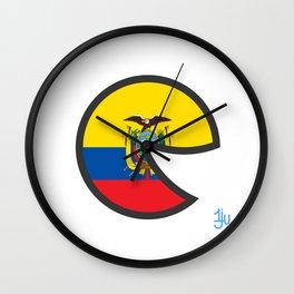 Ecuador Smile Wall Clock
