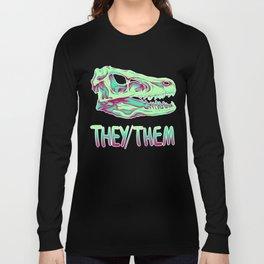 Velociraptor Skull Long Sleeve T-shirt