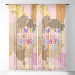 Women supporting Women Sheer Curtain