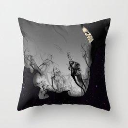 Death Galaxy Throw Pillow