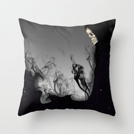 Death Galaxy Throw Pillow