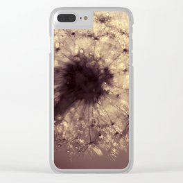 dandelion gold Clear iPhone Case