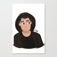 zayn Canvas Prints featuring Zayn  by Gaby Breadwater