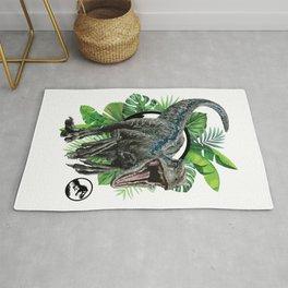Velociraptor Blue! Rug