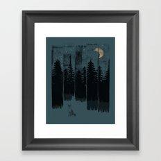 A Fox in the Wild Night... Framed Art Print