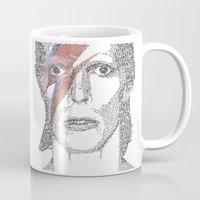 bowie Mugs featuring Bowie by S. L. Fina