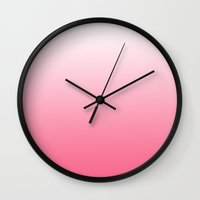 gradient Wall Clocks featuring gradient by Louisa Xanthopoulou