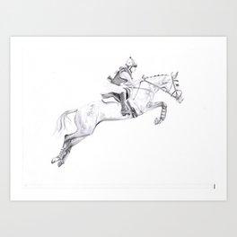 Horse commission  Art Print