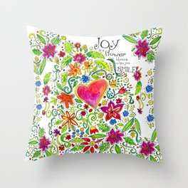 Joy in Your Smile Throw Pillow