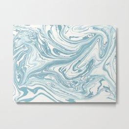 Malibu Blue Marble Retro Print Metal Print