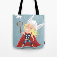 thor Tote Bags featuring Thor by Rod Perich