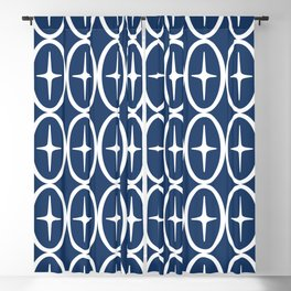 Geometric Oval and Star Pattern 136 Blackout Curtain