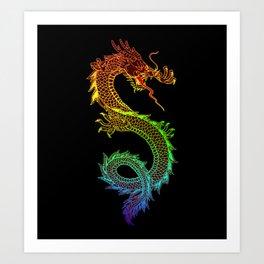 Traditional Chinese dragon in rainbow colors Kunstdrucke