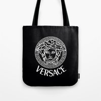 versace Tote Bags featuring Versace by I Love Decor