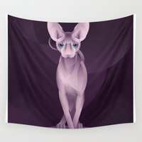 sphynx Wall Tapestries featuring Sphynx by Dezignjk (Justin Kohout)