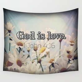 God is Love Wall Tapestry