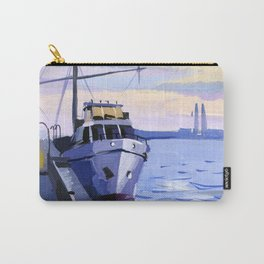 Seascape with a ship at the pier. Carry-All Pouch