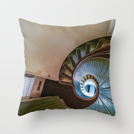 Spiral Staircase in the Old Lighthouse Throw Pillow