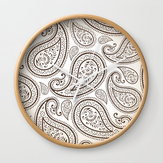 Paisley Threads Wall Clock