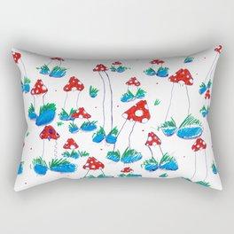 Crazy Xmas Mushrooms - Gift Idea Rectangular Pillow