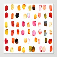 aelwen Canvas Prints featuring strokes of colors by clemm